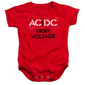 AC/DC High Voltage Stencil Infant  Band Snapsuit