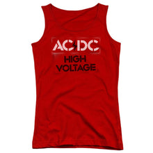 Load image into Gallery viewer, AC/DC High Voltage Stencil Juniors Band Tank