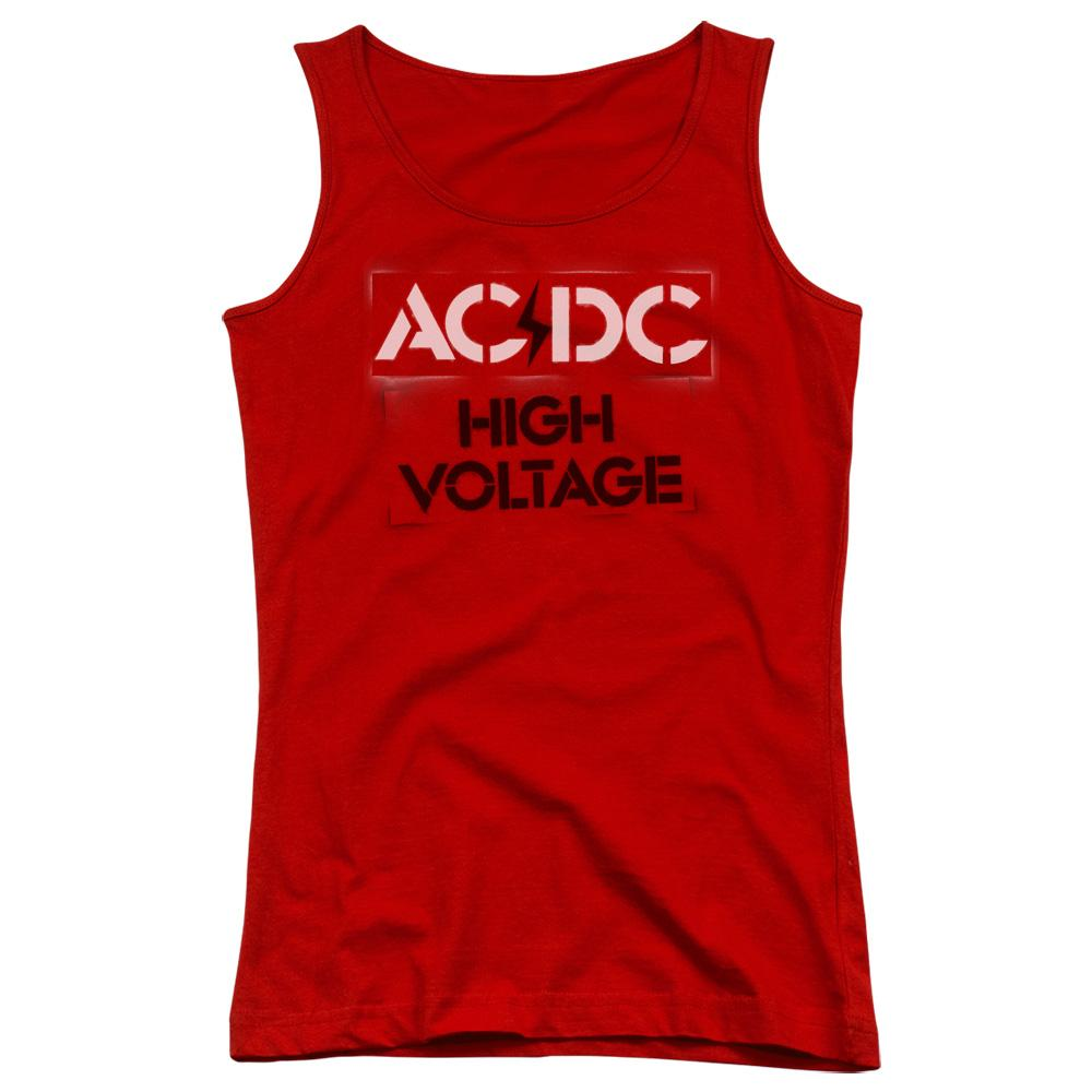 AC/DC High Voltage Stencil Juniors Band Tank