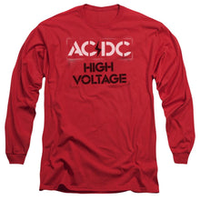 Load image into Gallery viewer, AC/DC High Voltage Stencil Long Sleeve Band T-Shirt
