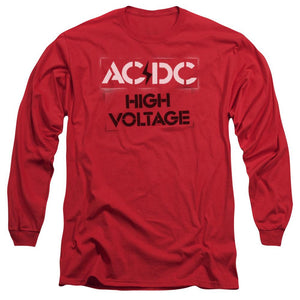 AC/DC High Voltage Stencil Long Sleeve Band T-Shirt