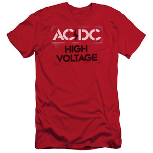 AC/DC High Voltage Stencil  Slim Fit Band T-Shirt