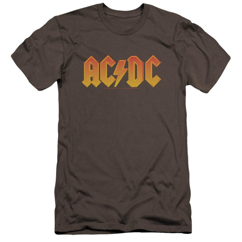 AC/DC Logo Premium Canvas Jersey  Band T-Shirt