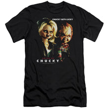 Load image into Gallery viewer, Bride Of Chucky Chucky Gets Lucky Slim Fit Movie T-Shirt