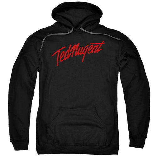 Ted Nugent Distress Logo Pullover Hoodie Band Sweatshirt