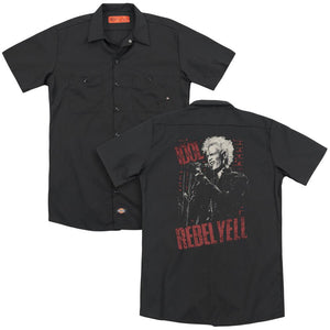 Billy Idol Brick Wall (Back Print) Band Work T-Shirt