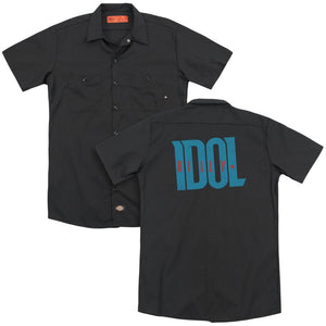 Billy Idol Logo (Back Print) Band Work T-Shirt