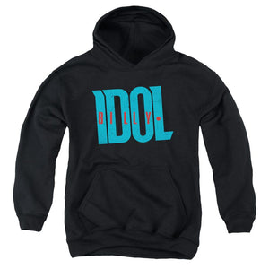 Billy Idol Logo Teen Pullover Hoodie Band Sweatshirt