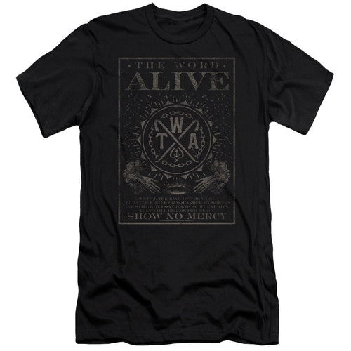 The Word Alive Show No Mercy     Premium Canvas  Band T-Shirt