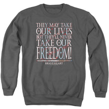 Load image into Gallery viewer, Braveheart Freedom Crewneck Movie Sweatshirt