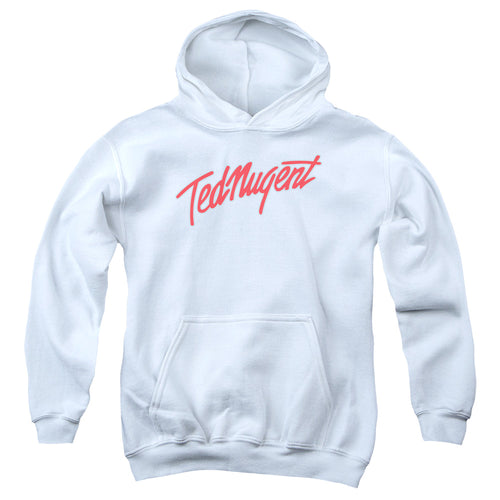 Ted Nugent Clean Logo Teen Pullover Hoodie Band Sweatshirt
