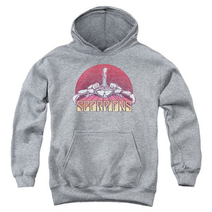 Scorpions Color Logo Distressed Teen Pullover Hoodie Band Sweatshirt