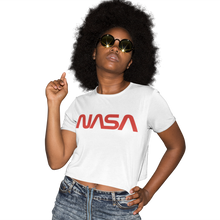 Load image into Gallery viewer, NASA Insignia Worm Logo Women's Cropped T-Shirt