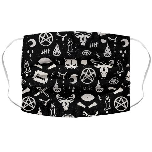 Cute Occult Pattern Pillow Fabric Face Mask-Graphic Tees Store