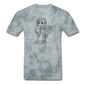 new shirt zelda - grey tie dye