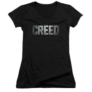 Creed Logo Junior Girls V Neck Movie T-Shirt