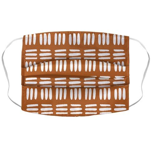Dashed Lines Rust Boho Pattern Fabric Face Mask-Graphic Tees Store