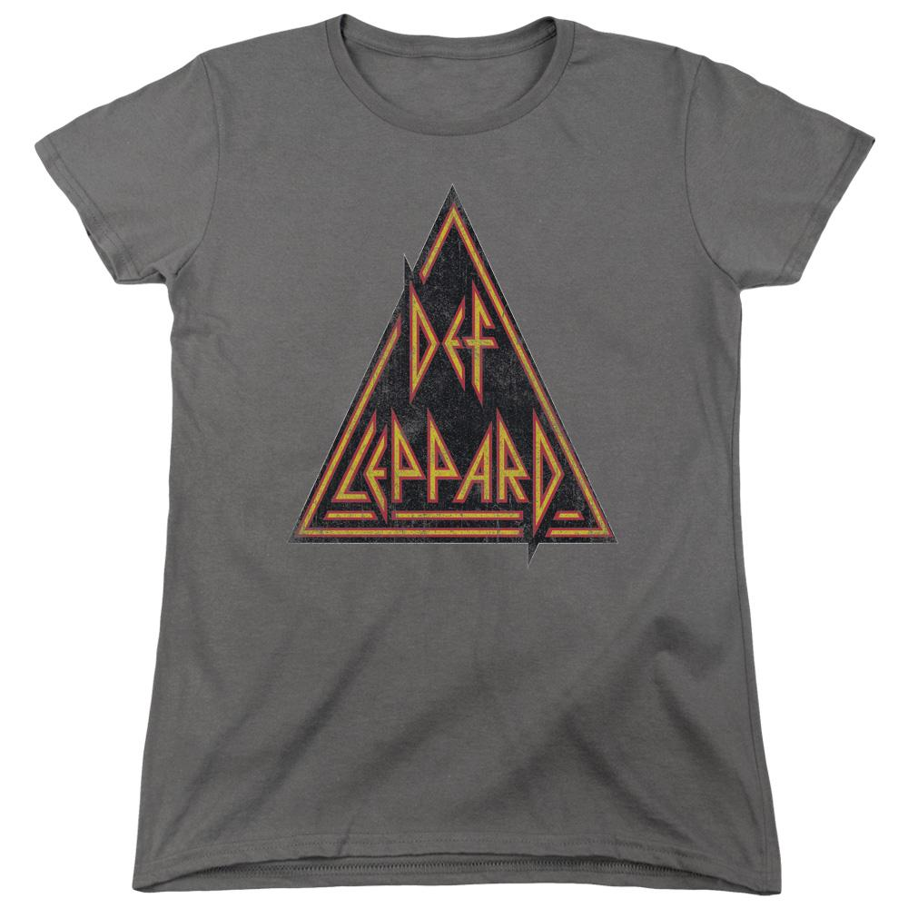 Def Leppard Distressed Logo Women's Band T-Shirt