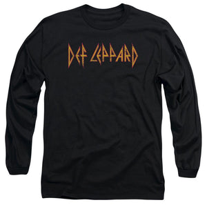 Def Leppard Horizontal Logo Long Sleeve Band T-Shirt