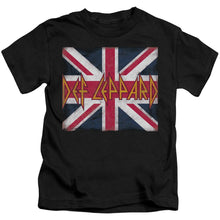 Load image into Gallery viewer, Def Leppard Union Jack Kids Band T-Shirt