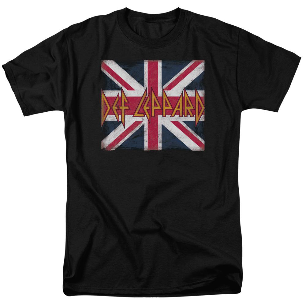 Def Leppard Union Jack Short Sleeve Band T-Shirt