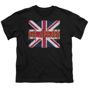 Def Leppard Union Jack Teen Band T-Shirt
