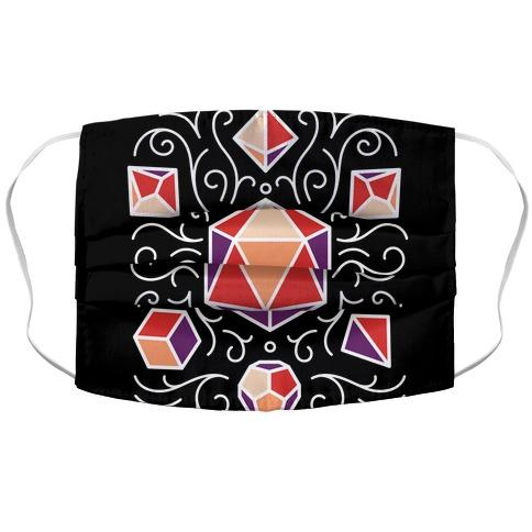 DnD Dice Set Pattern Fabric Face Mask-Graphic Tees Store