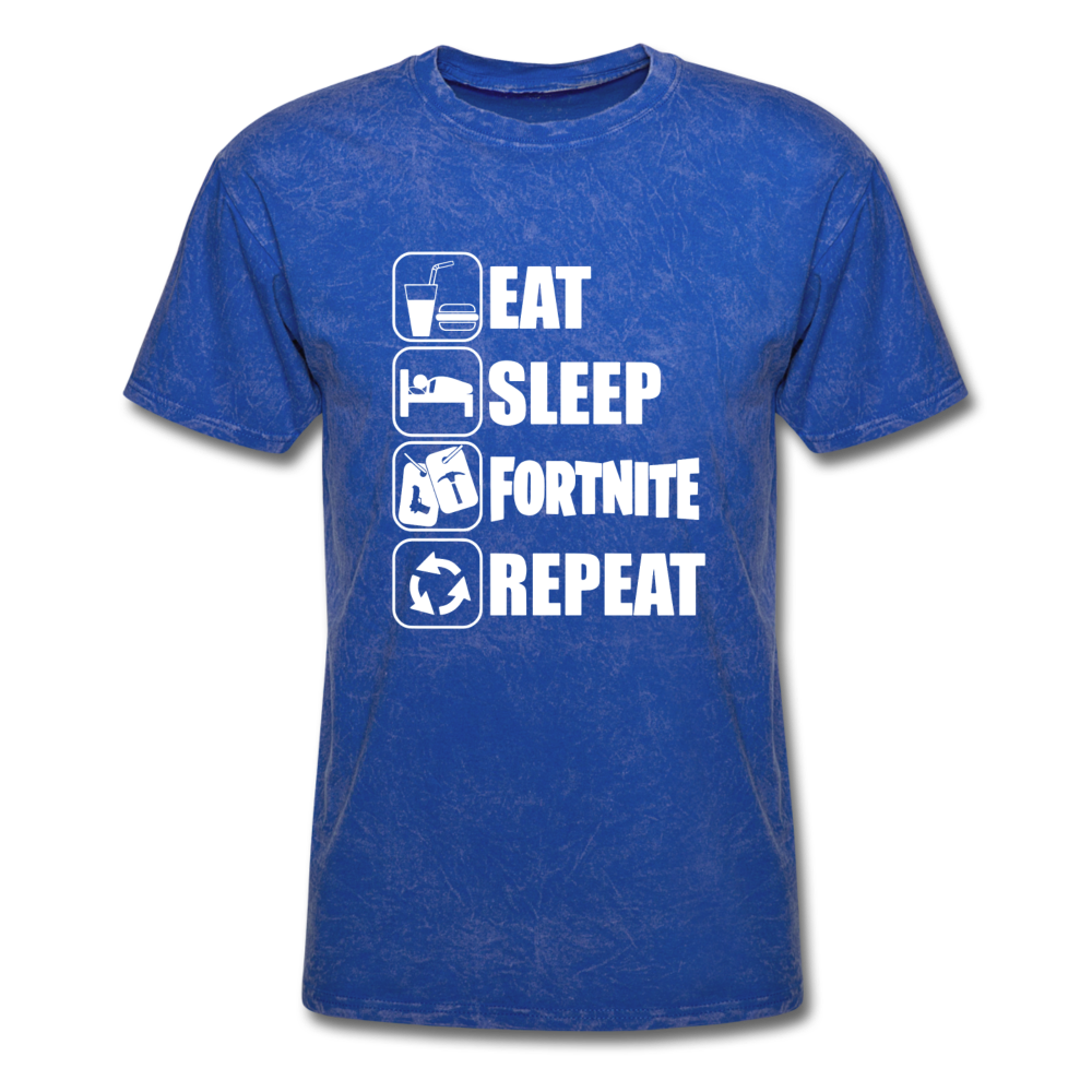 Eat Sleep Unisex Mineral Fortnite Video Game T-Shirt - mineral royal