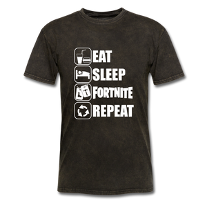 Eat Sleep Unisex Mineral Fortnite Video Game T-Shirt - mineral black