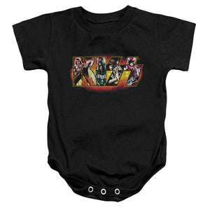 Kiss Collage Logo Infant Band Snapsuit