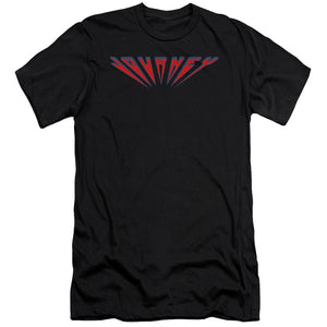 Journey Perspective Logo Premium Canvas Jersey   Band T-Shirt