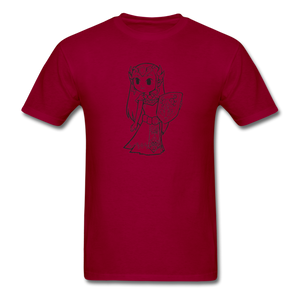 new shirt zelda - dark red