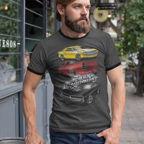 Fast And The Furious Muscle Car Splatter Heather Movie T-Shirt