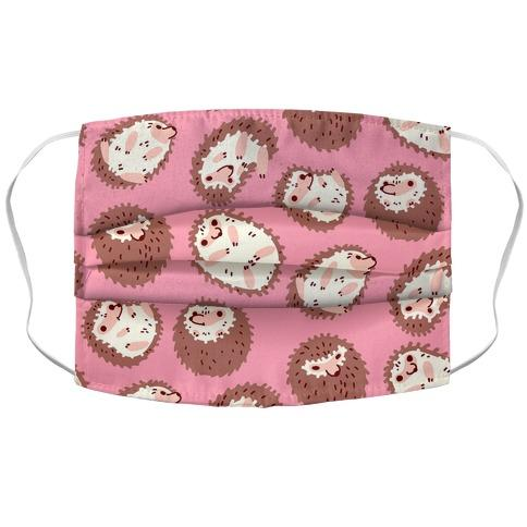 Floaty Hedgehogs Pattern Fabric Face Mask-Graphic Tees Store