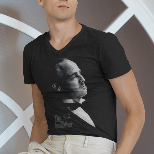 Godfather Graphic Vito V Neck Movie T-Shirt