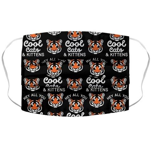 Hey All You Cool Cats and Kittens Fabric Face Mask-Graphic Tees Store