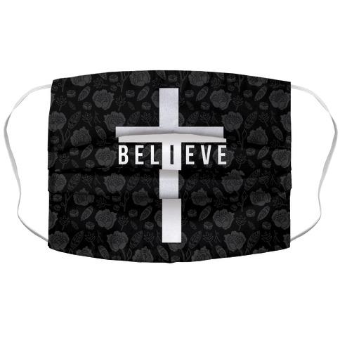 I Believe Fabric Face Mask-Graphic Tees Store