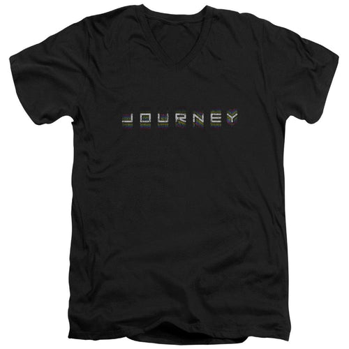 Journey Repeat Logo V Neck Band T-Shirt