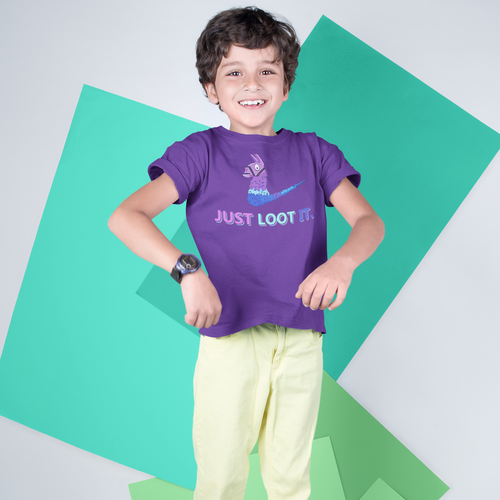 Just Loot It Kids' Fortnite Video Game T-Shirt
