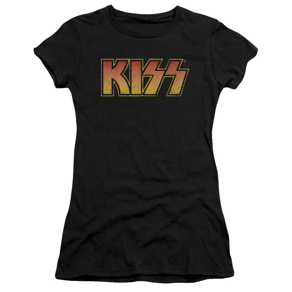 Kiss Classic Junior Girls Sheer Band T-Shirt