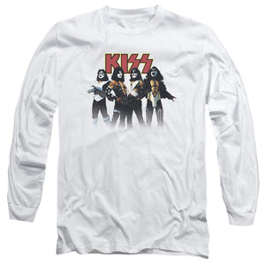 Kiss Power Pose Long Sleeve Band T-Shirt