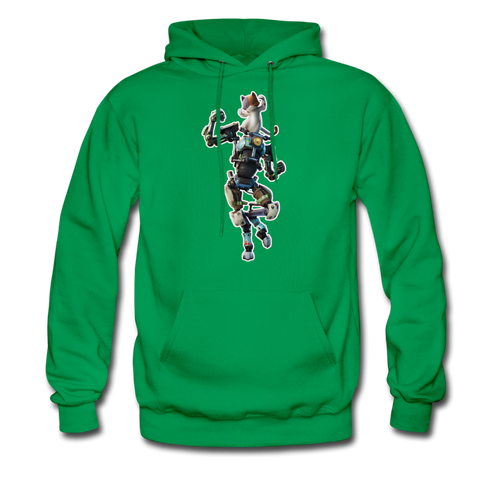 Kit Fortnite Hoodie Video Game Sweatshirt - kelly green