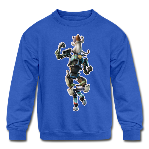 Kit Fortnite Kid's Crewneck Video Game Sweatshirt - royal blue
