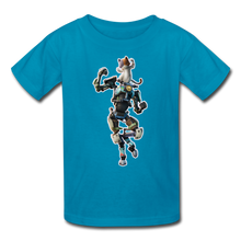 Load image into Gallery viewer, Kit Fortnite Kid's Video Game T-Shirt - turquoise