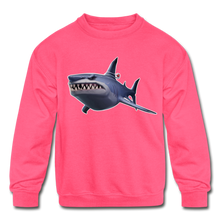Load image into Gallery viewer, Loot Shark Fortnite Kid's Crewneck Video Game Sweatshirt - neon pink