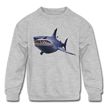Load image into Gallery viewer, Loot Shark Fortnite Kid's Crewneck Video Game Sweatshirt - heather gray