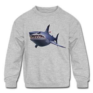 Loot Shark Fortnite Kid's Crewneck Video Game Sweatshirt - heather gray