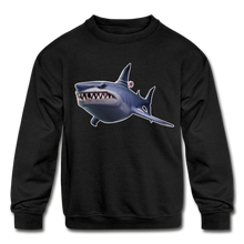 Load image into Gallery viewer, Loot Shark Fortnite Kid's Crewneck Video Game Sweatshirt - black