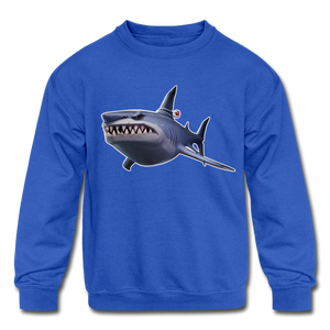 Loot Shark Fortnite Kid's Crewneck Video Game Sweatshirt - royal blue