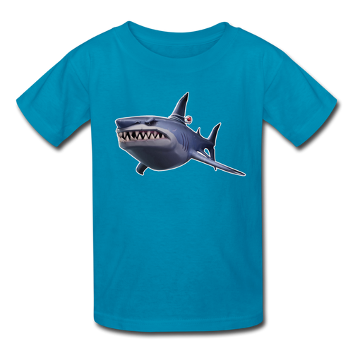 Loot Shark Fortnite Kid's Video Game T-Shirt - turquoise
